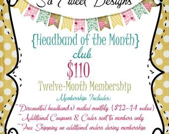 Headband of the Month Club - 12 month membership