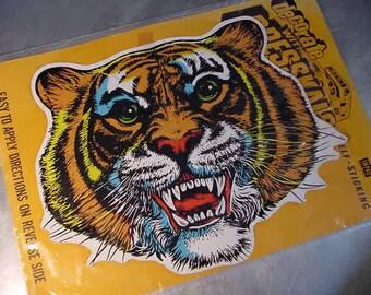 TIGER Sticker Decal Vintage Large 1960s DETROIT Tigers BASEBALL Fan