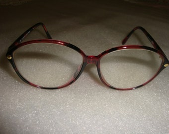 Vintage 1980s Tortoise Eyeglasses Austria Frame Reading Glasses Vintage Eyewear Ladies Eyewear  Designer Eye Wear