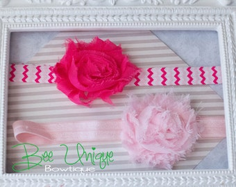 pink headbands..girls pink headband..chevron headbands..newborn pink headbands..baby girl headbands..pink chevron headbands..baby headbanad