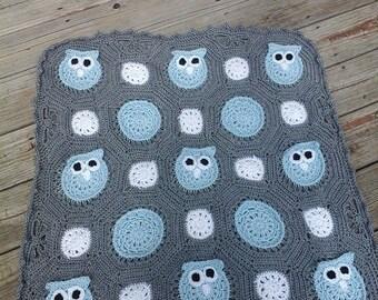 Crochet Owl Obsession Baby Blanket