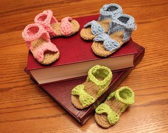 Baby Girl Crocheted Sandals