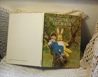 Benjie Beats The Mark Hardcover By Susan Hall ,Vintage Children's Book,Vintage Book,Old Book,/ :)s