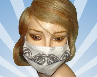 Funny surgical mask, Imperial mustache, designer cotton face mask, mouth mask, mouth protection, washable