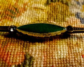 French, Catherine Popesco, vintage green pin brooch. France