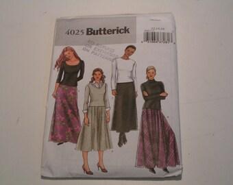Butterick Pattern 4025 Miss Petite Skirt