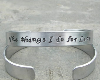 The things I do for Love GAME of THRONES Hand-Stamped Bracelet Close Out Sale