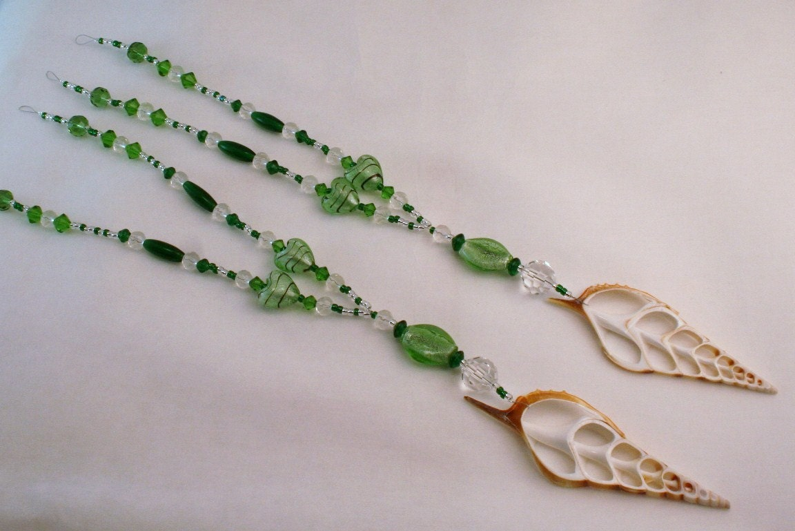 free shipping curtain tie backs glass beaded tiebacks green