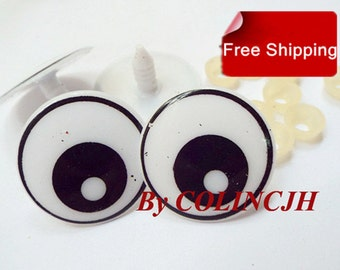 5Pairs Toy Eyes Cartoon Safety Eyes Animal Craft Eyes Plastic Eyes With Plastic Washers