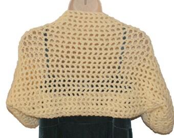 White Shrug, Plus Size Top, Off White Shrug, Womens Plus Size, Large Size Shrug, Bolero Jacket, Over Size Sweater, Plus Size Clothes