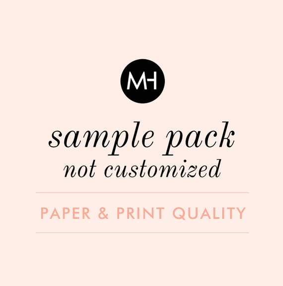Sample Pack - Not Customized - Printed Samples for Paper and Print Quality