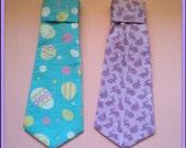 Easte Egg/Purple Rabbit  Dog Neck Tie Size M