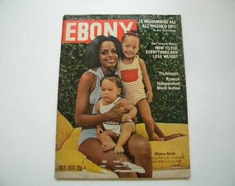 Vintage 1973  Ebony  Magazine Diana Ross Cover