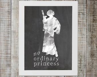 Princess Leia Star Wars Print - 'no ordinary princess'