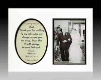 Father of the Bride Thank you for Walking Personalized Wedding Gift Dad Daddy Parents