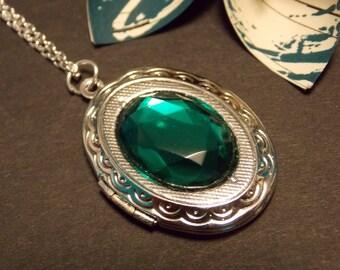 Emerald Victorian Locket Necklace