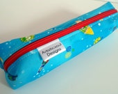 Pencil Case, Pencil Pouch, School Supply – Outer Space Japanese Fabric  - Toiletry & Cosmetics Bag
