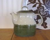 1960's Rorstrand Swedish Teapot, Stoneware Tea Pot, Art Deco,Teapot, Sweden, Marianne Westman, Olive Green, Maya, Elisabeth Teapot, Ceramic