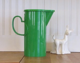 Dansk Gunnar Cyren Kelly Green Pitcher, Dansk, Danish Modern, Modern, Pitcher, Green, Plastic, MCM