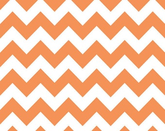 Orange/White Medium Chevron Riley Blake