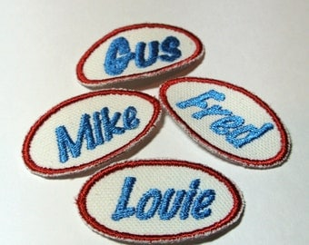 Kids Name Patch Scaled to Fit Childrens Clothes Custom made with the name and color of your choice Nifty and Fun