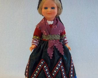 Traditional German Doll with Open and Closing Eyes - Authentic Global Home Decor