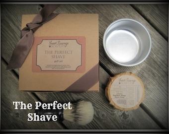 MENS SHAVING Gift Set | Handmade Shaving Soap | Groomsmen Gift | Weddings | Mens Bath and Body | Soap Gifts for Him | Father's Day Gift