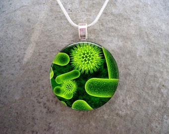 Virus Jewelry - Glass Pendant Necklace - Science Jewellery - Virus 3