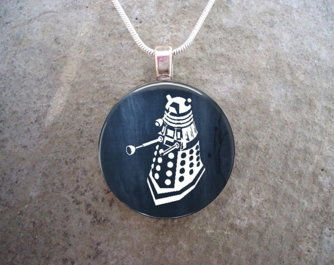 Doctor Who Jewelry - Dalek -  Glass Pendant Necklace