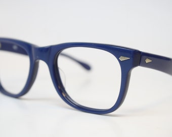 Vintage Glasses Frames Small Blue Glasses vintage Eyeglass Frames 1980s Retro Eyeglasses