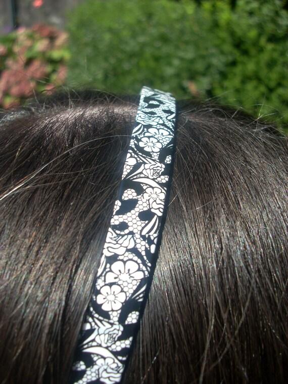 B/W lacy petals, Color Polka Dots, Pepper Pink, Giraffe-kin  Lime, Purr Purple Zebra Handmade Plastic Headband, (Vault 11) Meikwai, Girls