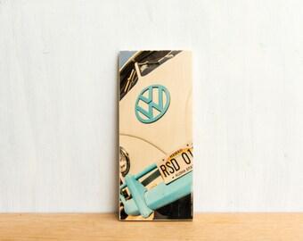 Vintage VW Van Photo Transfer Art Block MINI -  'Hawaii VW' by Patrick Lajoie Fine Art Photography