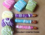 Candy Buffet - Chocolate Covered Pretzel Sticks, Oreos and Rice Krispy Treats -  Chocolate Favors