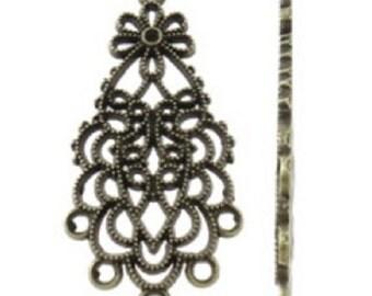 6PC antique bronze finish chandelier components-8061