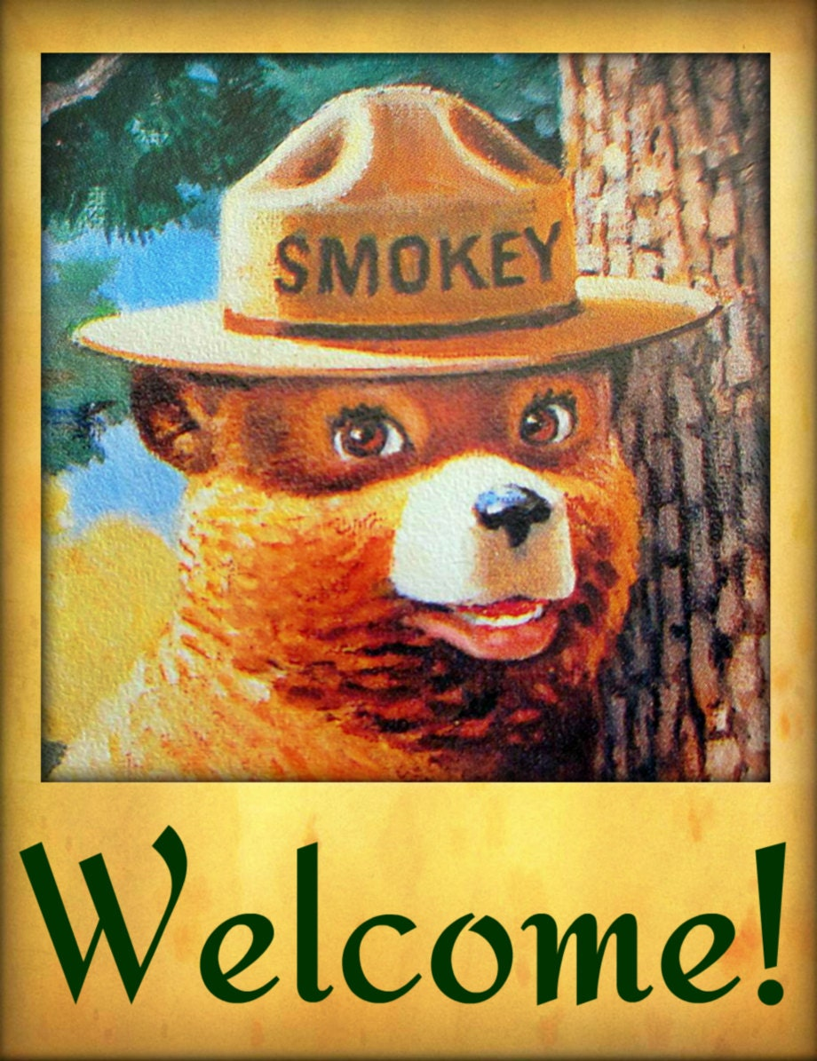 Smokey Bear Welcome Sign Made In Usa Limited Edition