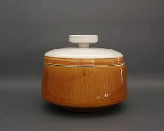 Vintage Interpace Franciscan Discovery Topaz Casserole with Lid - Topaz Covered Casserole - Mid Century - Butterscotch Colour