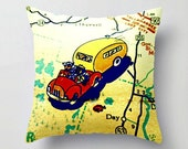 Retro Camper Pillow Travel Trailer Retro Camper Decor Vintage Airstream Decorative Throw Pillow Cover Tin Can Tourists Vintage Camper Decor