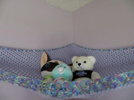 extra large crochet toy net lavender girls room or choose your. Black Bedroom Furniture Sets. Home Design Ideas
