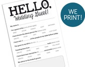 25 WEDDING GUEST CARDS — Funny Entertaining Marriage Advice Card for Reception, Printed Cards