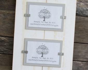 Picture Frame - Double 4x6 - Distressed Wood - Holds 2 - 4x6 Photos - White with Light Gray