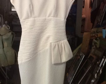 Vintage Cream Colored Pencil Dress