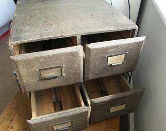 1930er 40er jahre schreibtisch ablage schubladen vier schubladen in rauen aber schbigen zustand - Herman Miller Schreibtisch Veranstalter