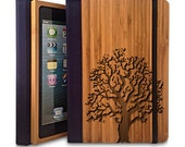 Oak Tree - Bamboo iPad Air Bookcase, Wood iPad Air Case, Wood iPad 5 Bookcase - Primovisto