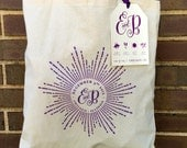 Wedding Day Tote Bags - Monogram Starburst