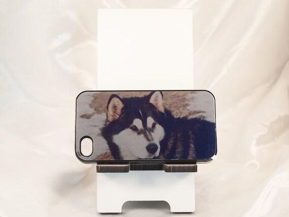 iPhone 4, 4s, 5, 5s, 5c, 6 , 6+ Case, Malamute Sled Dog Design, Rubber Cover, Black, White, Artistic, Photograph