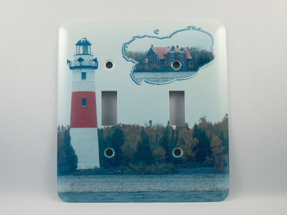 Sale on light switch cover middle island michigan lighthouse for Lighthouse switch plates