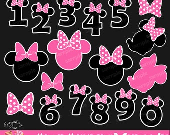 Minnie Mouse Pink2 Clipart Set