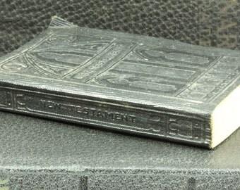 Antique Leather Pocket-Size New Testament Bible - Black Bible
