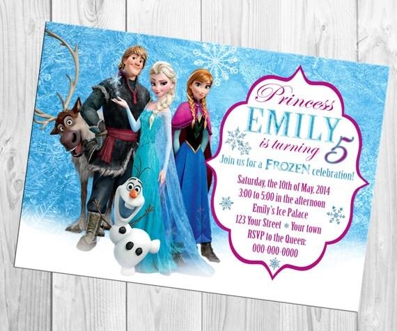 disney frozen birthday invitation, Birthday invitations