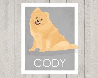 Pomeranian Art Print - Custom Dog Art